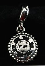 New Authentic Pandora Las Vegas High Roller Poker Chip Exclusive Bead Charm