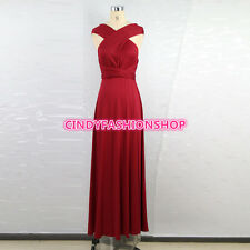 New Summer Women Sexy Maxi Red Bandage Long V-Neck Wrap Around Deign Robe Femme