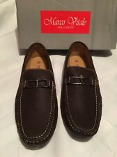 Marco Vitale Mode Essentials Checkered Men's Loafer Driving Shoe Size 13 Brown