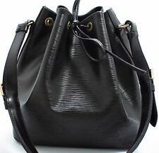 Louis Vuitton EPI Petit Noe BAG BORSA SHOULDER TRACOLLA NERO SUPER 1
