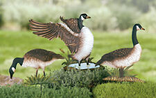 SET OF 3 METAL CANADIAN GEESE YARD STAKES LAWN GARDEN BIRD HOME ACCENT DECOR NEW