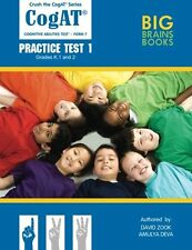 Crush the CogAT: Form 7 Practice Test 1 (Grades K, 1, and 2) by David Zook, (Pap