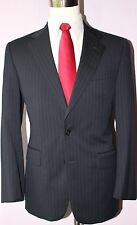 Brooks Brothers Madison Blue Striped Two Button Wool Mens Suit 40 S 33 28 Pants