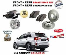 FOR KIA SORENTO 2.2 CRDi 2.4 2010-  FRONT + REAR BRAKE DISCS SET + DISC PADS KIT