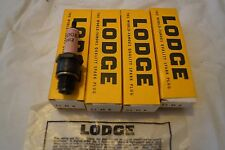 Four New Old Stock Lodge 4H12 Spark plugs - FREE UK P+P
