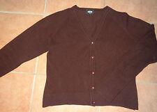 dunkel-rote Strick-Weste P-12 32-34-36 Strick-Jacke Wollweste bordeaux Damen 152