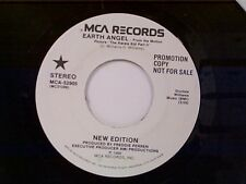 """NEW EDITION """"EARTH ANGEL / SAME"""" 45 PROMO MINT"""