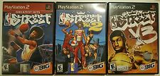 PS2 Play Station 2   NBA STREET VOL 1, 2 and 3  EA Sports Cleaned and Tested