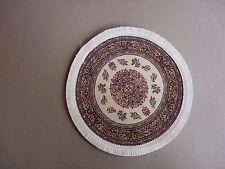 Teppich GEWEBT Rund Grundfarbe beige 19 cm Puppenstube 1:12