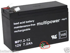 1 x Multipower Bleigel Akku 12V / 7,2Ah MP7.2-12  / LC-R127R2PG