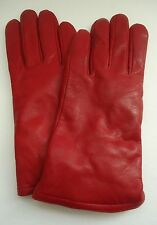 Ladies Genuine Leather Thinsulate Gloves, Red