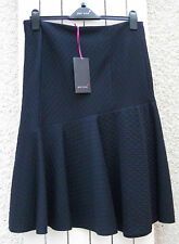 NEW £45 M&S PER UNA NAVY WARM QUILTED FLIPPY SKIRT - SIZE 12 BNWT