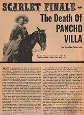Pancho Villa's Death - The Scarlet Finale+Holmdahl,Hurtado,Lozoya,Medrano,Pardo