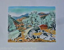 YVES*BRAYER*LITHO*ORIGINALE*PAYSAGE*CORSE*MAQUIS*VINTAGE*MUSEE*ARTRARE*COLLECTOR