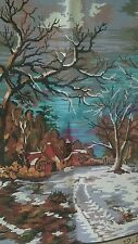 "COLLECTION D'ART 24""x32"" WINTER Needlepoint/Made In Greece/NEW"
