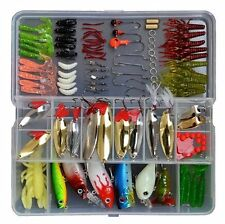 119 Pcs Bionic Fishing Lure Tackle Kit Set Minnow Crank Spoon Bait Spinner Lure