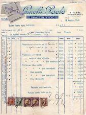 FIRENZE - SPAZZOLIFICIO SPINELLI - RARA FATTURA COMMERCIALE CON MARCHE - 1940