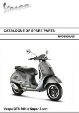 Piaggio Vespa parts manual book 2010 Vespa GTS 300 ie Super Sport