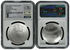 2014 P Baseball Hall of Fame Silver Dollar NGC MS70 MLB Players Derek Jeter