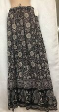 Joie Long Skirt Black Print Cotton NWT Size Med