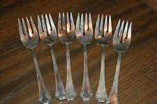 Reed & Barton Silver Plate Salad Dessert Forks Marked Pat Appl'd For Set of 6