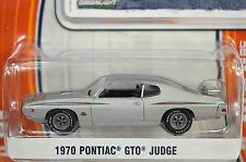 PONTIAC GTO JUDGE 1970 SILVER GREENLIGHT MUSCLE SERIES 9 13090 1:64 NEW