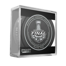 2016 NHL Penguins v Sharks Stanley Cup Final Game 5 On-Ice Hockey Puck W/Cube