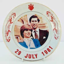 Vintage Souvenir Plate Royal Wedding Prince Charles Princess Diana 1981