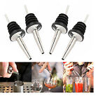 4x Liquor Spirit Pourer Free Flow Wine Bottle Pour Spout Stopper Stainless Home