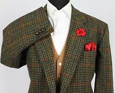 Harris Tweed Blazer Jacket Windowpane Wedding Country Horse Races 48R SPECIAL 05