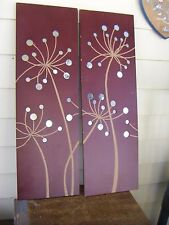Pair of Wood & Mirrors Art Deco Matching Wall Accents