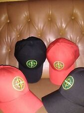 New Stone Island black and Red Baseball Cap buy one Get Two (Rare)