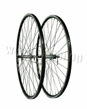 700c Rigida Ryde Front and Rear Black Rim Silver Hub Pair Wheels