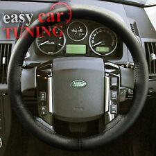 LAND ROVER DISCOVERY 3 2004-2009 BLACK REAL GENUINE LEATHER STEERING WHEEL COVER