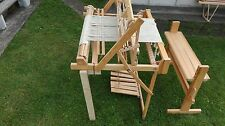 Large Sweden folding floor weaving loom