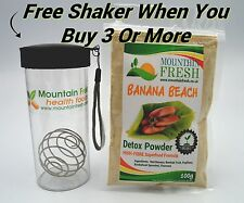 BANANA BEACH Detox Powder 100g - Organic Fibre Supplement