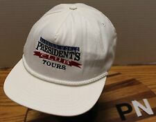 CAMPING WORLD PRESIDENT'S CLUB TOURS HAT WHITE SNAPBACK GOOD CONDITION USA MADE