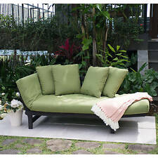 Green Outdoor Patio Furniture Set Chair Lounger Futon Deck Pool Garden Wood Bed