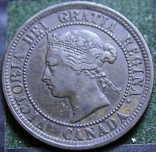 #460# 1882H CANADIAN COINS LARGE CENT QUEEN VICTORIA