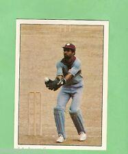 1985 SCANLENS CRICKET STICKER #13  JEFF DUJON, WEST INDIES