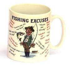 Fishing Excuses full colour pottery fishermans Gift Mug NEW