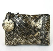 New Auth BOTTEGA VENETA Intrecciomirage Leather Mini Clutch Pouch, 301195 8414