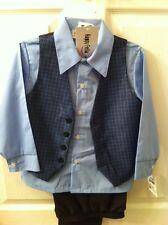 2 Piece Suit Size 4 Kids Toddler NWT Happy Fella Vest Shirt Pants