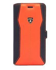 Lamborghini Huracan-D1 Orange Leather Ultra Slim Flip Case for iPhone 7 Plus