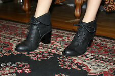 STEVEN BY STEVE MADDEN LACCEYY BLACK LEATHER ANKLE BOOT SIZE 9