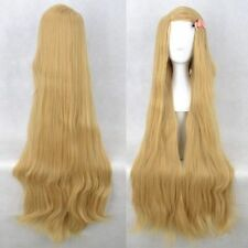 Tangled Rapunzel Women Long Wavy Blonde Cosplay Full Hair Cos Wig Hair