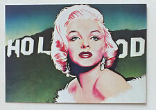 CP - MARYLIN MONROE HOLLYWOOD PAR MICHEL FAURE - EDITIONS CARTES D ART MF 26 *