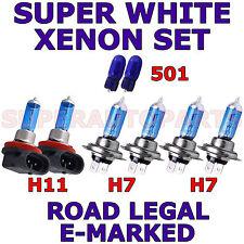 FITS AUDI TT 2007-ON   SET  H7   H7   H11  501  SUPER WHITE XENON LIGHT BULBS