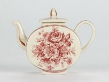 "Antique Style Vintage Rose porcelain Burgundy Red Miniature Mini Teapot 3"" 8cm"