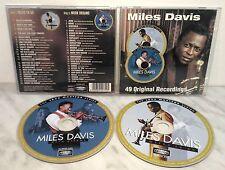 2 CD MILES DAVIS - MILES TO GO - MOON DREAMS - 49 ORIGINAL RECORDINGS